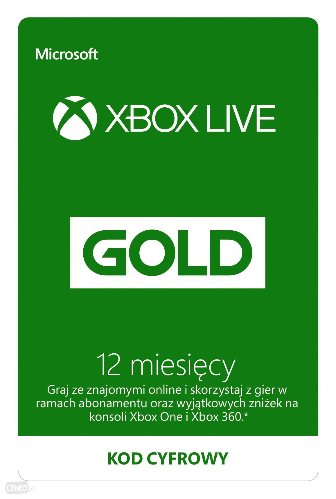 Xbox Live GOLD 12 Months 1 Year