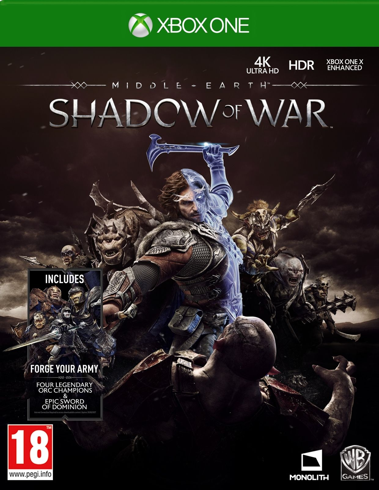 Middle-earth: Shadow of War - Xbox One - konto