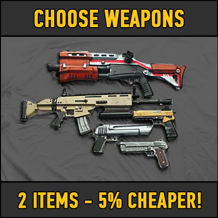 Fortnite: 2 chosen weapons (5% DISCOUNT)