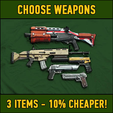 Fortnite: 3 chosen weapons (10% DISCOUNT)