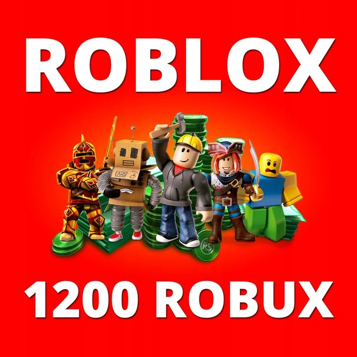 Roblox - 1200 ROBUX (gift card / code)